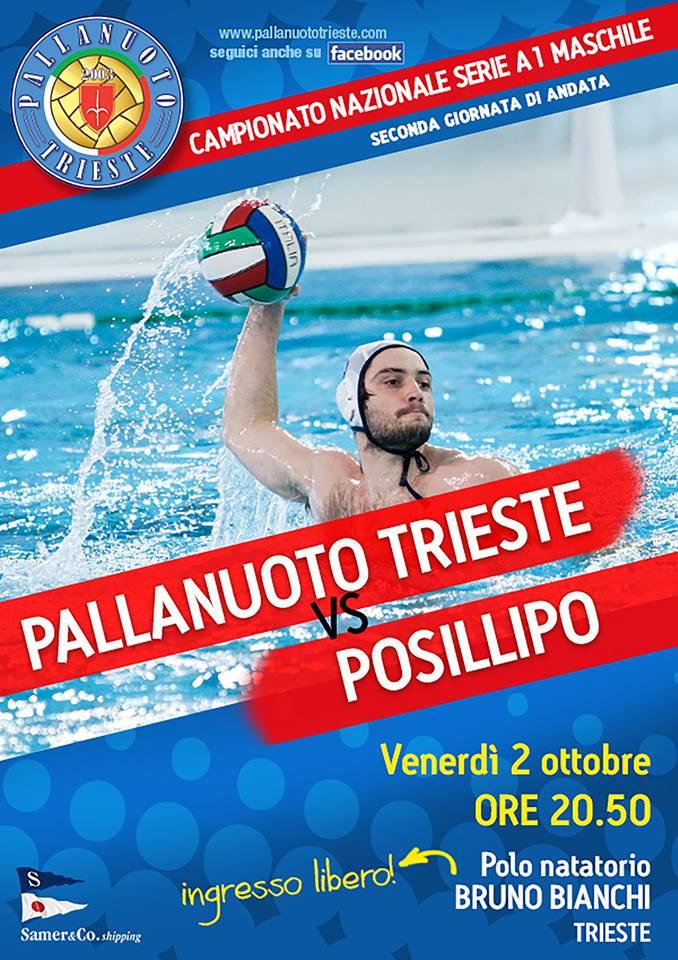 """Venerdì 2 ottobre alla """"Bruno Bianchi"""" la Pallanuoto Trieste ospita il blasonato Posillipo."""