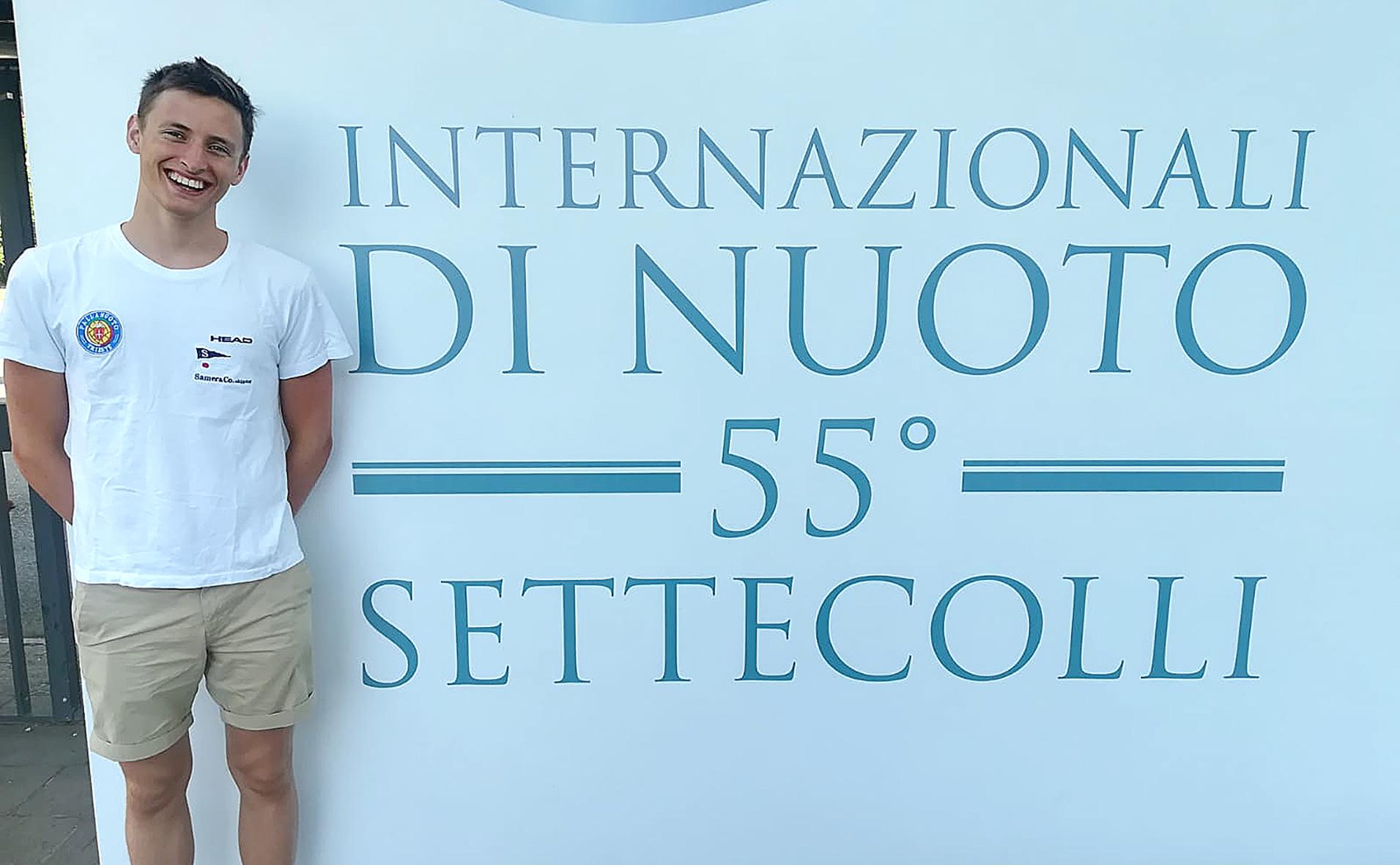 """Buoni riscontri per Davide Galimberti al """"Sette Colli"""" del Foro Italico: miglioramenti nei 400 misti e 1500 stile"""