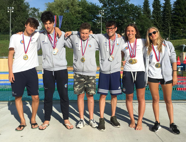 Gli atleti della Pallanuoto Trieste al Meeting di Ravne (Slovenia). Buoni risultati e tempi in miglioramento
